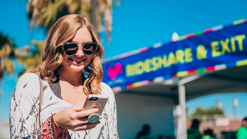 Lyft Activation at Life is Beautiful 2018