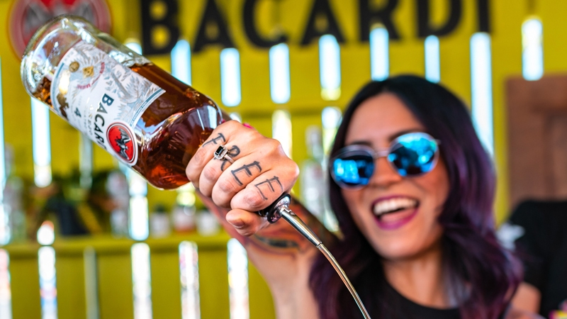 Bacardi Activation at Life is Beautiful 2018